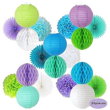Amazon.com: shzons Tissue pompones tela Ventilador de papel ...