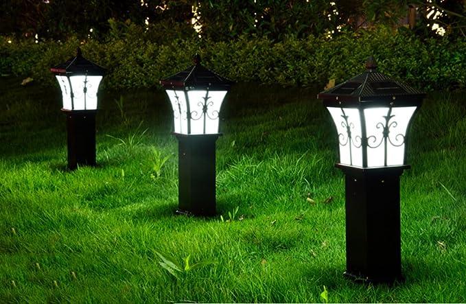 Solare luci led da giardino alluminio vetro energieeffiziente