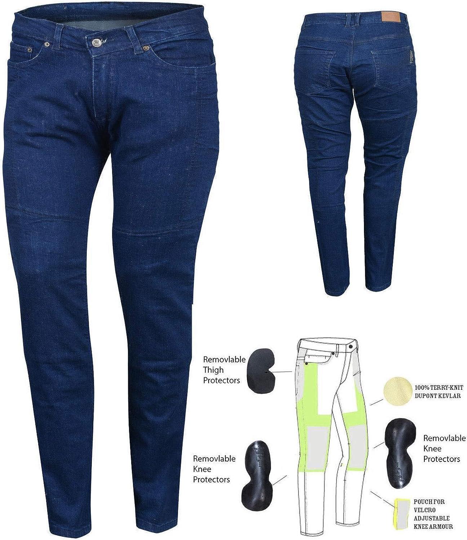 vintage Denim taille 8 Bikers Gear Australia Limited pour femme stretch avec doublure en Kevlar pour moto de protection Jeans avec amovible CE Armour