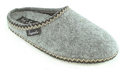 Szymel Neuheit Hausschuhe Filz Herren Pantoffeln Handgemacht In EU Qualität, Haltbarkeit, Komfort, Design, Günstige Preis Größen: 42 46