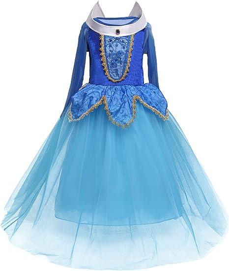 Amazon.com: HNXDYY - Disfraz de princesa Aurora para niñas ...