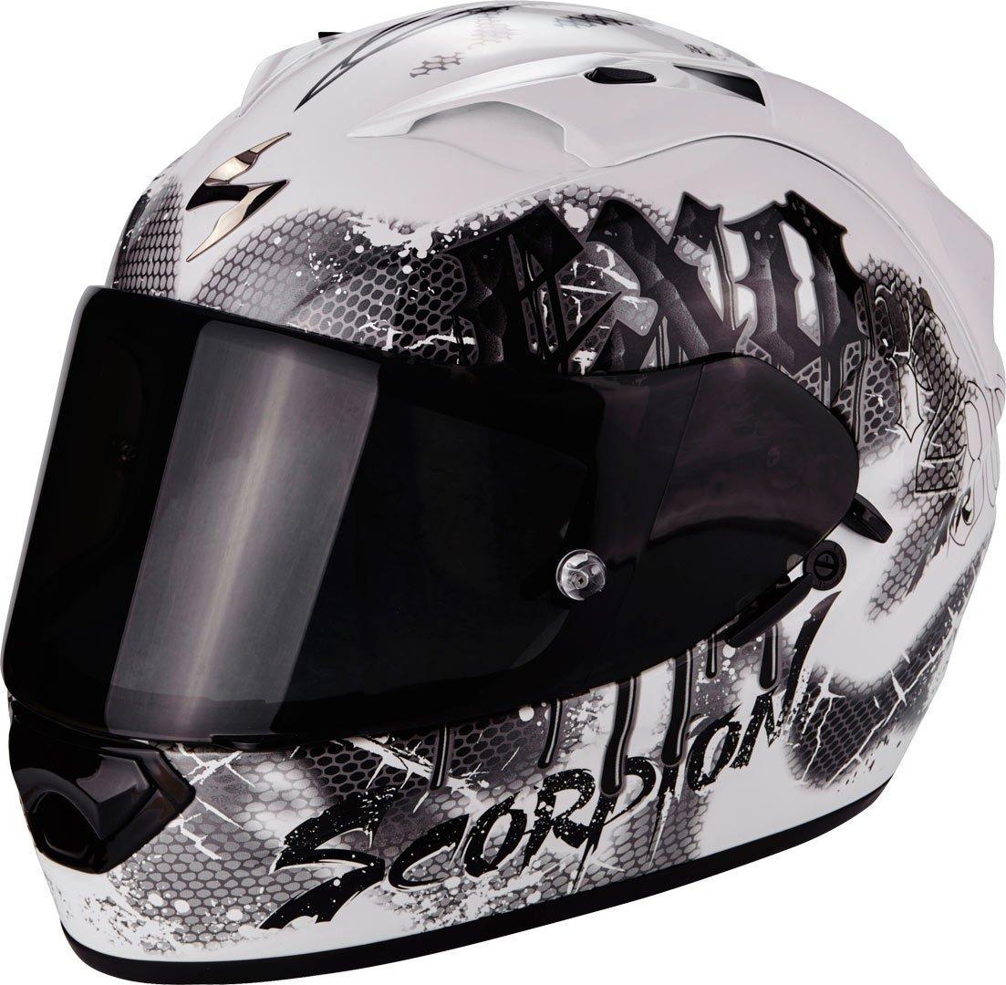 S Scorpion Helmet Moto exo-1200/Air Tenebris Black//Green