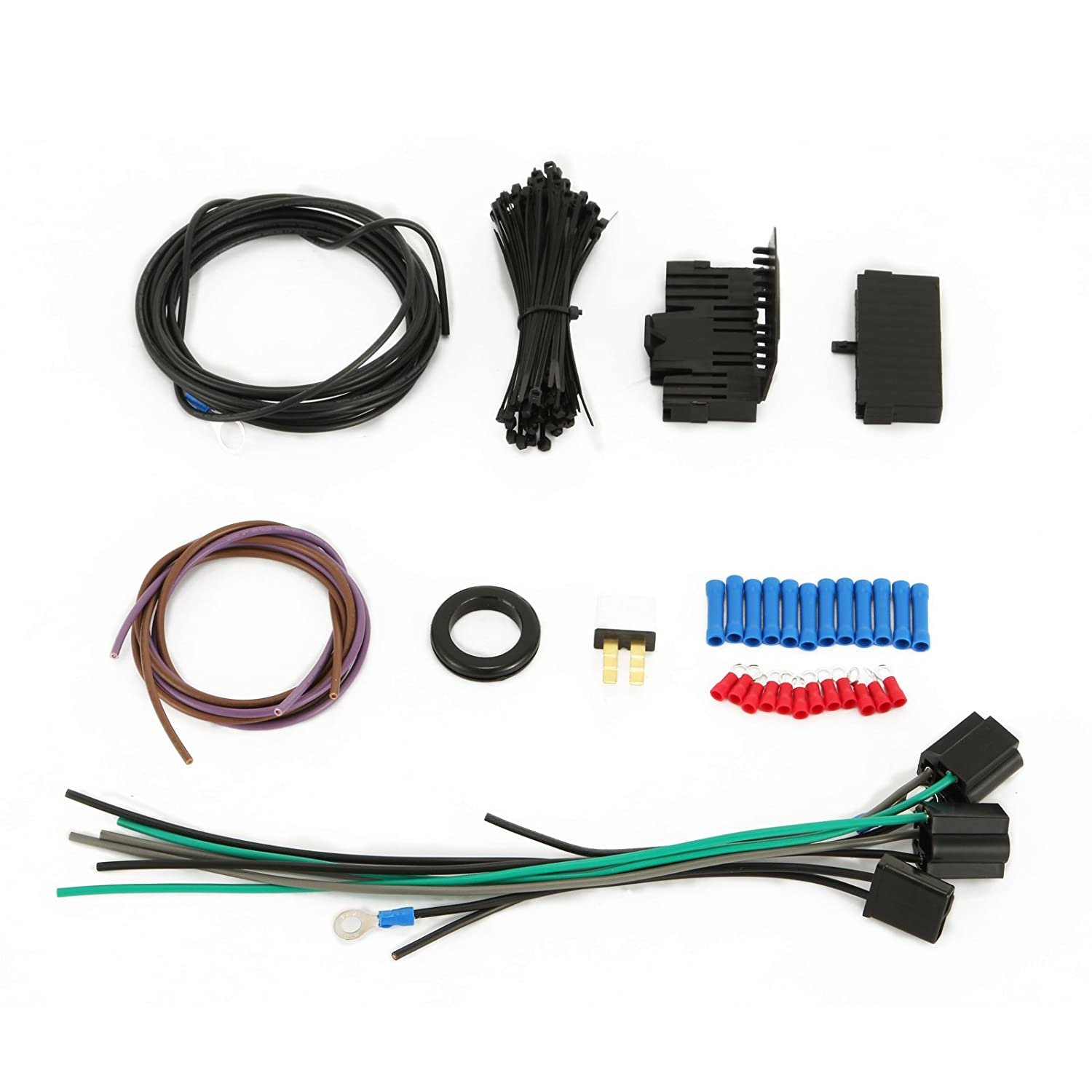 Mophorn 21 Circuit Wiring Harness Kit Long Wires Ez Wire Power Window Diagram Standard Color For Chevy Mopar Hotrods Ford Chrysler