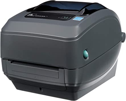 Zebra - GX430t Thermal Transfer Desktop Printer for labels, Receipts, Barcodes, Tags, and Wrist Bands - Print Width of 4 in - USB, Serial, and ...