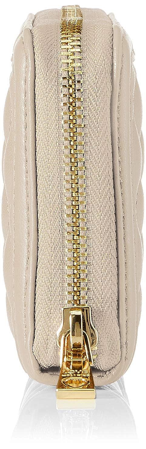 Love Moschino - Portafogli Quilted Nappa Pu, Carteras Mujer, Beige (Tortora), 3x10x20 cm (B x H T): Amazon.es: Zapatos y complementos