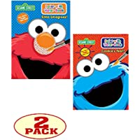 "Sesame Street® Paint with Water Set of 2 Books. ""Elmo Imagines!"" and ""Cookie's Year!"""