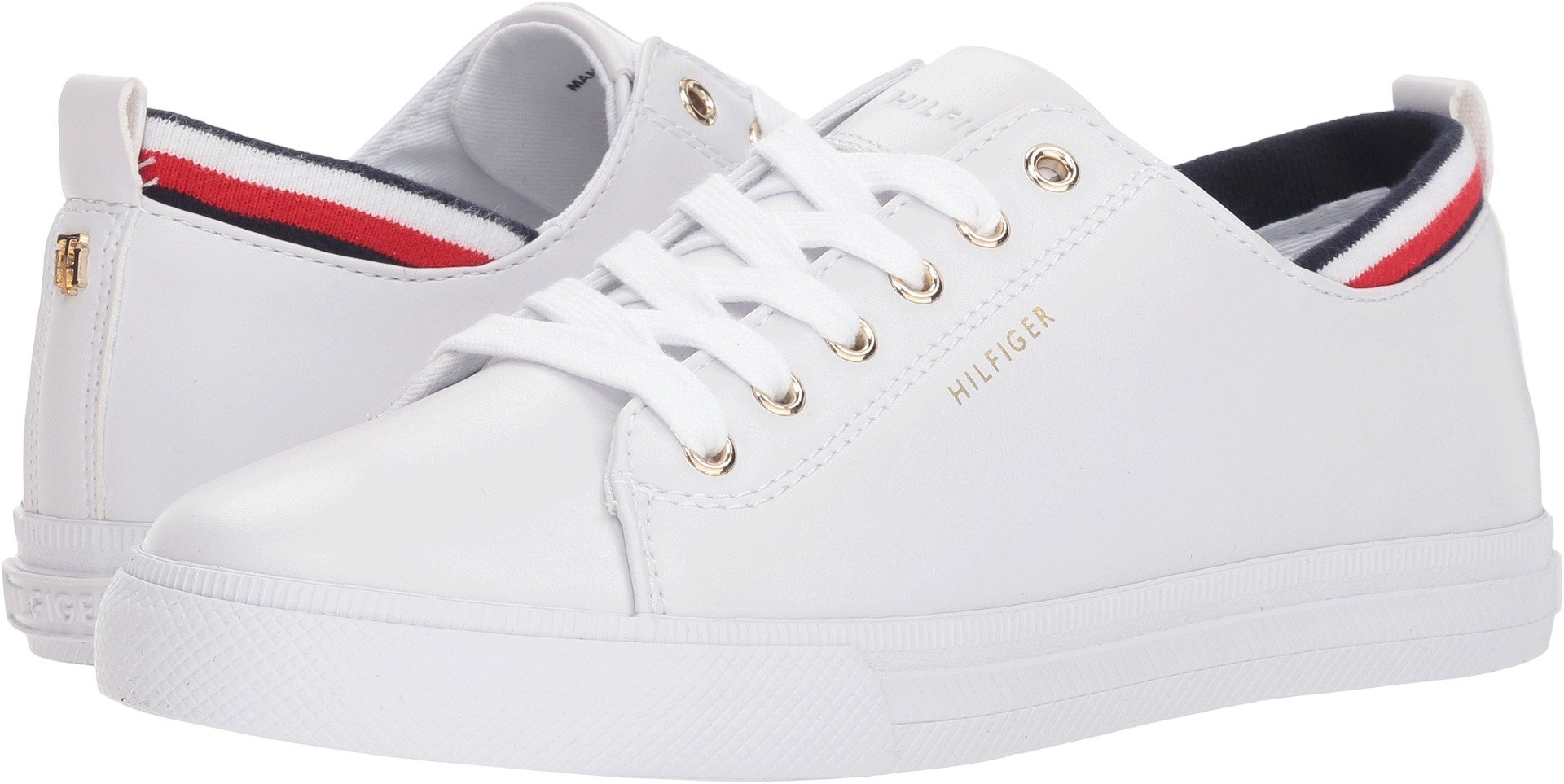 Tommy Hilfiger Women's Lou White Leather 7.5 M US