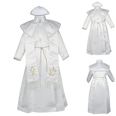 03514a78e59 Unotux Baby Boy Christening Baptism Gown Gold Outfit Dove Cross Church Hat  0-30M (