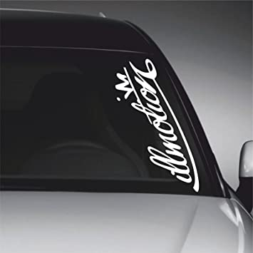 Illmotion windscreen vinyl decal sticker jdm euro car bike window wall bumper laptop made
