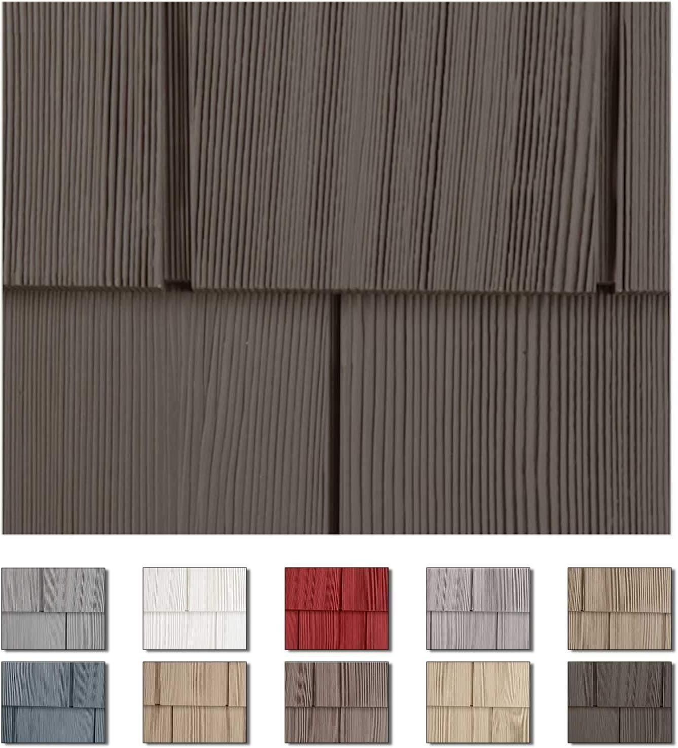 Homeside Select Double 7in. Cedar Shake Vinyl Siding (1/2 Square) Slate