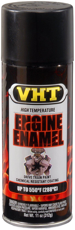 VHT (ESP130007-6 PK) Flat Black High Temperature Engine Enamel - 11 oz. Aerosol, (Case of 6)