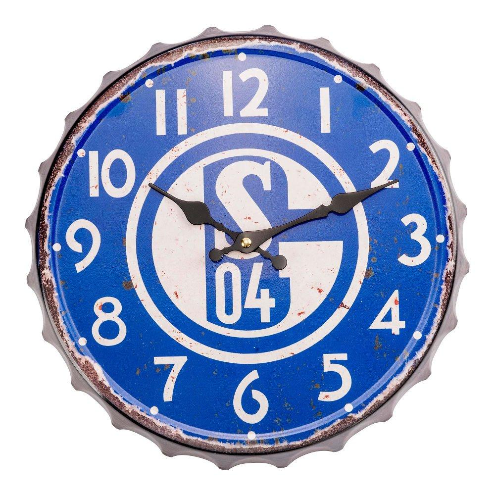 FC Schalke 04 Wanduhr Vintage groß