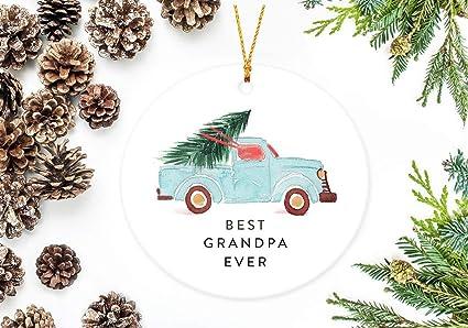 Amazon.com: UTF4C Christmas Ornaments 2018, Best Grandpa Ever ...