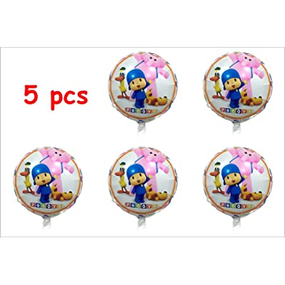Pocoyo 5 pcs Balloons Birthday Party Decoration SuppliesShips from US …: Toys & Games