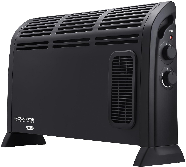 Rowenta CO3030F1 Radiateur Chauffage Convecteur /Électrique Vectissimo 2 Niveaux Thermostat R/églable D/étecteur de Gel 2400W Noir