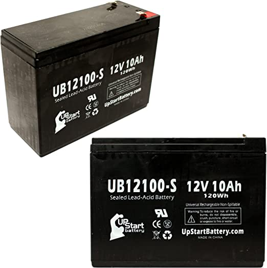 UpStart Battery UB12100-S-2BATT-DL72 - ​Best Lawn Battery for Neuton Lawnmowers