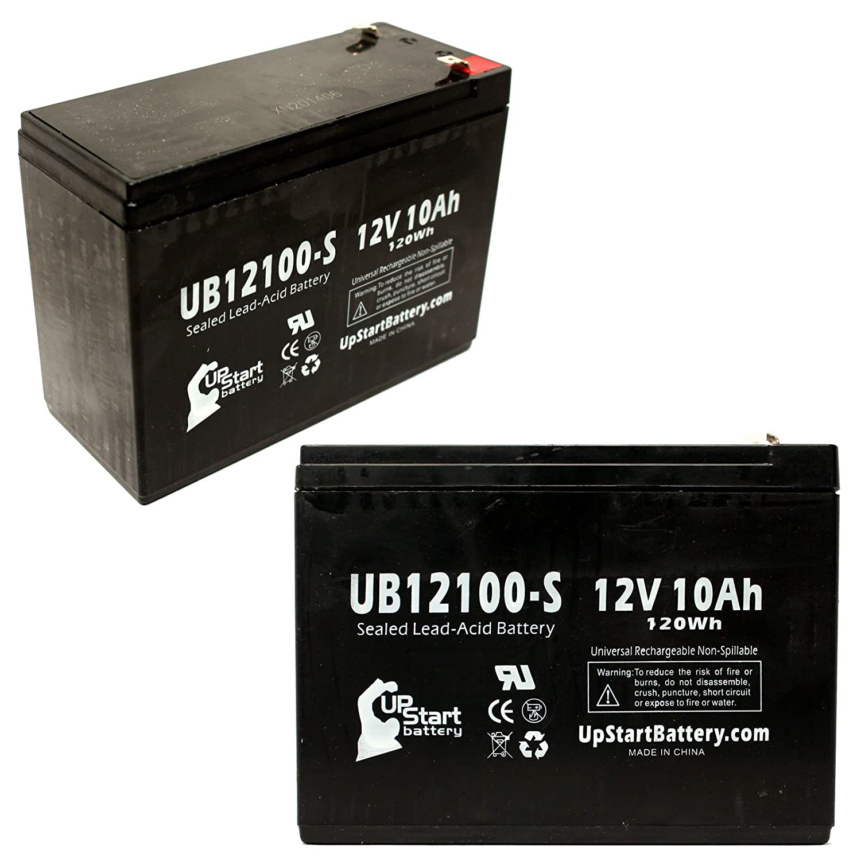 2xパック - eZip 400 互換バッテリー : eZip UB12100-S シールド鉛蓄電池 バッテリー対応 (10Ah, 12V, SLA, AGM) B00LRVQDP2