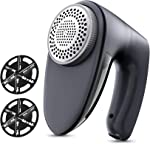 POPCHOSE Fabric Shaver, Rechargeable Lint Remover with 6-Blades and Electrostatic Brush,