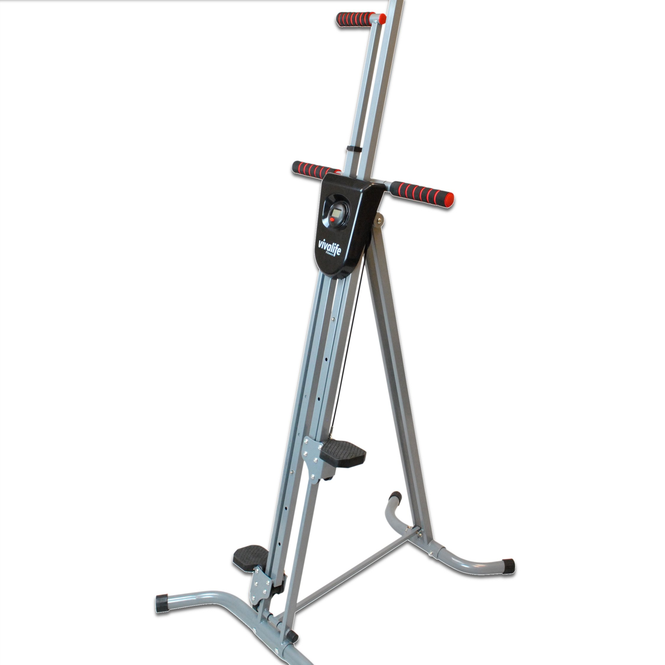 Viva Life Fitness Vertical Climber Exercise Machine - Max Calories Burned in Minimum Time – Full Body Fitness - Simulates Climbing Ladder or Stairs - Folding & Portable Design