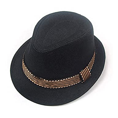 One Sizeblackgemini MallKids Fedora Trilby Hat Sun Hat Jazz Cap with  Matching  Amazon.in  Clothing   Accessories e47470af9489