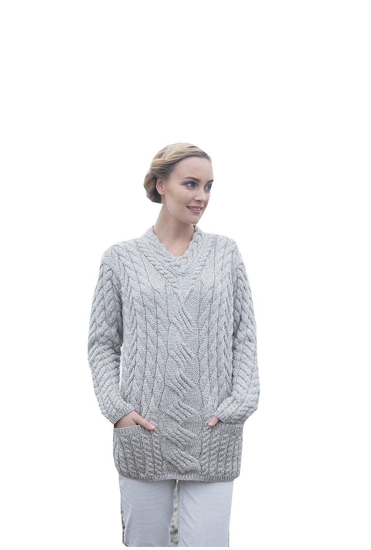 McLaughlin's Irish Shop Irischer Strickpullover für Damen aus 100% Supersoft Merinowolle
