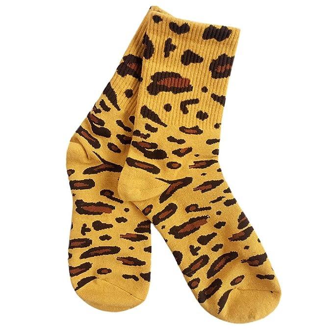 kinlene Leopardo de la moda calcetines unisex calcetines deportivos calcetines de tubo de algodón: Amazon.es: Ropa y accesorios