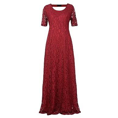 Image Unavailable. Image not available for. Color  Women Lace Party Dress  Plus Size 7XL 8XL 9XL Short Sleeve Floor Length Summer Long Maxi e4e606508390
