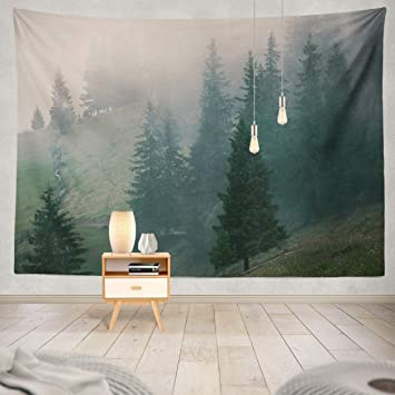 Amazon.com: ASOCO Tapestry Wall Handing Landscape with Fir ...