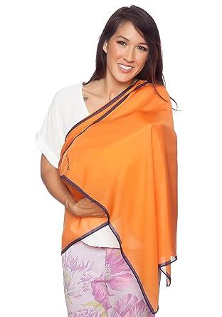 90493ae1e 5-IN-1 100% Mulberry Silk Nursing Cover, Scarf, Shawl, Beach Cover ...