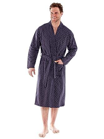 342c07703ae 100 % hommes brossé PAISLEY confortable coton flanelle robes de chambre (M -gris)