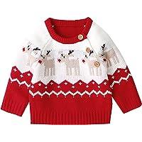 Toddler Baby Girl Boy Christmas Clothes Knit Sweater Deer Pullover Sweatshirt Warm Crewneck Long Sleeve Tops Winter…