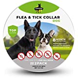 SOBAKEN Flea Collar for Dogs, 2 Pack, Natural Flea and Tick Prevention for Dogs, One Size Fits All Dogs, 25 inch, Charity