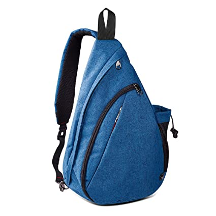 f04bbb6efcd4 Amazon.com  OutdoorMaster Sling Bag - Crossbody Backpack for Women   Men  (Azure Blue)  Sports   Outdoors