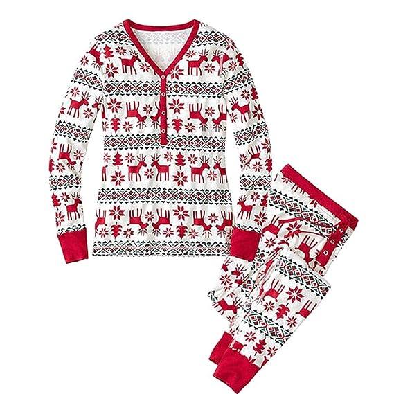 BOZEVON Familia Ropa de Dormir Mamá Papá Niños Conjunto Navidad Pijama Conjunto: Amazon.es: Ropa y accesorios