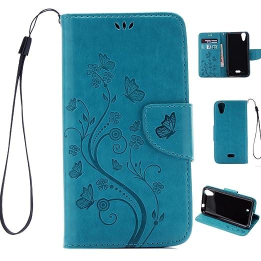 4 opinioni per Telefono Caso Wiko Rainbow Jam 4G Folio Flip Wallet Custodia in Morbido PU Pelle