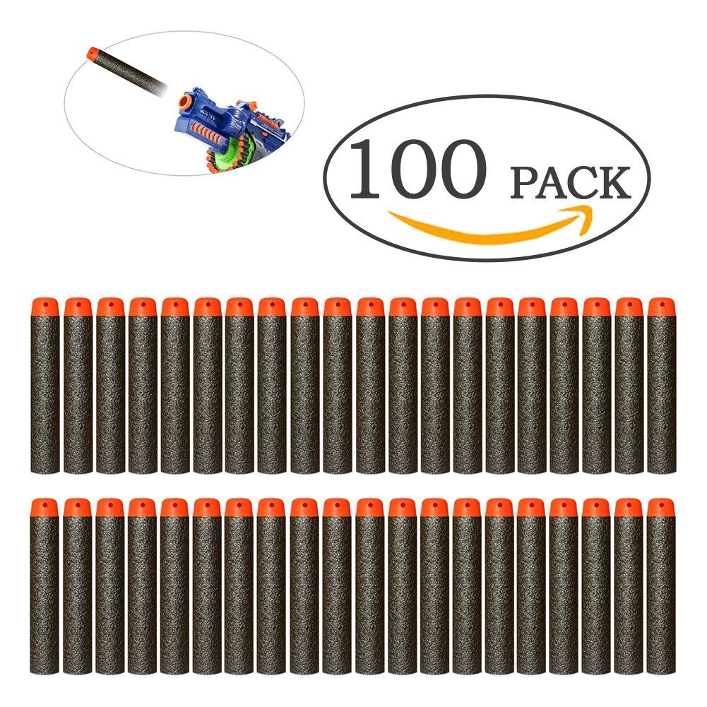 Paquete de repuestos de 100 dardos N-Strike Elite, flechas de espuma suave, para accesorios y juguetes Nerf N-Strike Elite Mega, negro Wear-Beauty