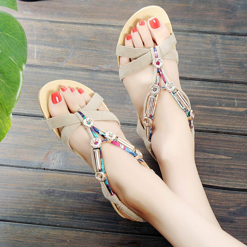 ffdcafa442b7b Amazon.com: lotus.flower Women's Sandals Elastic Belt Shoes Metal ...