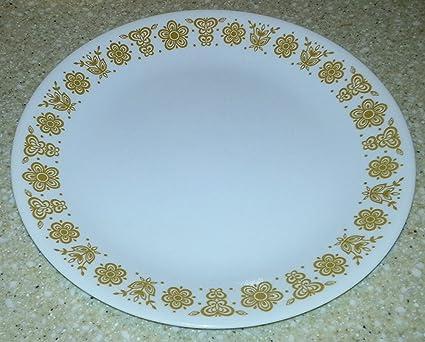 Corelle - Butterfly Gold - 10-1/4u0026quot; Dinner Plates (Set of & Amazon.com   Corelle - Butterfly Gold - 10-1/4