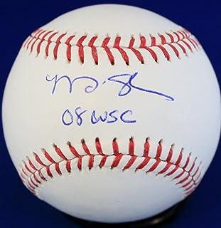 Autographed Matt Stairs '08 WSC' World Series Official Major League Baseball