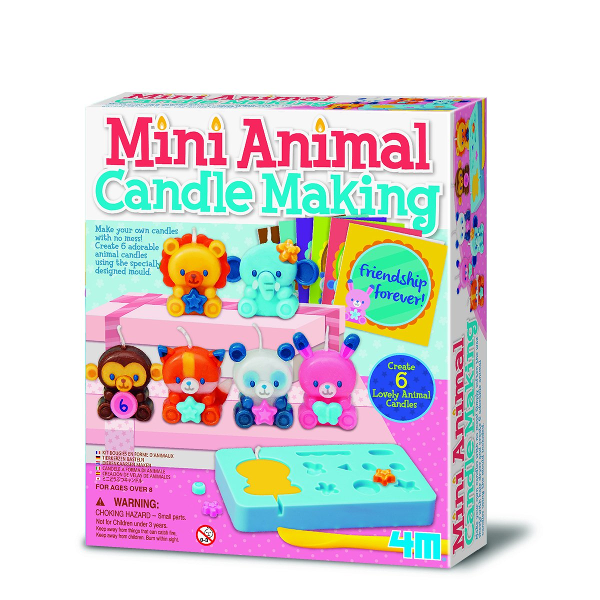 Top Selling 4M Mini Animal Candle Making Kit - Arts & crafts activity for children suitable age 4+ Ideal Birthday Present Kenzies Gifts
