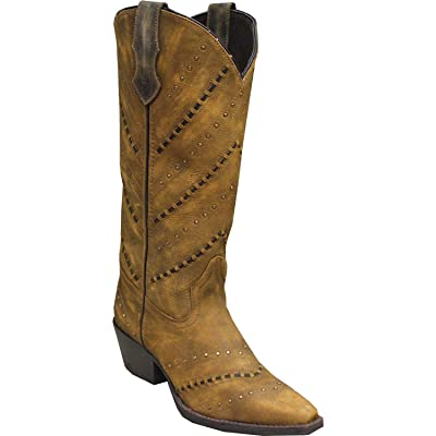 Amazon.com | Abilene Women's Rawhide by Hand Laced Western Boot Snip Toe | Boots