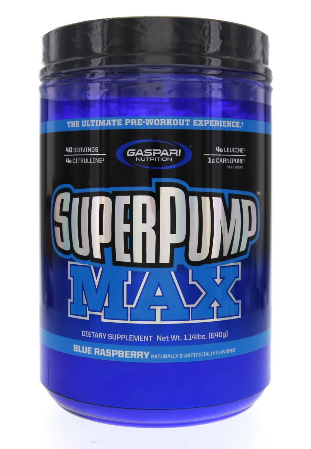 Gaspari Nutrition Super Pump MAX Blue Raspberry Ice 40 Servings