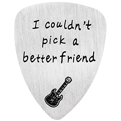 Púa de guitarra, no pude elegir un mejor amigo, regalo de aniversario para músicos