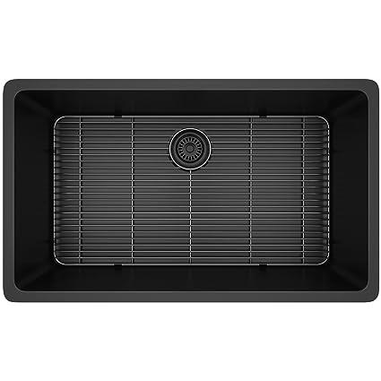 Lexicon Platinum Quartz Composite Kitchen Sink - Large Single Bowl on