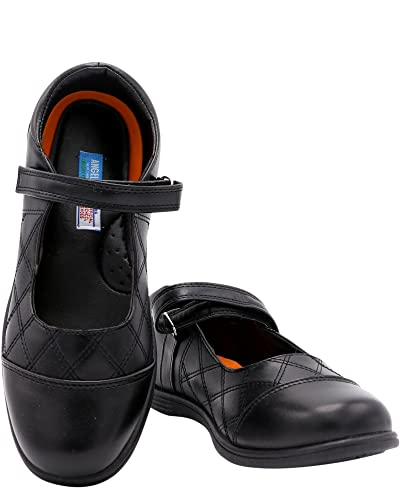 Toddler//Little Kid Bumud Kids Boys Leather Oxford Black School Uniform Outdoor Dress Shoe