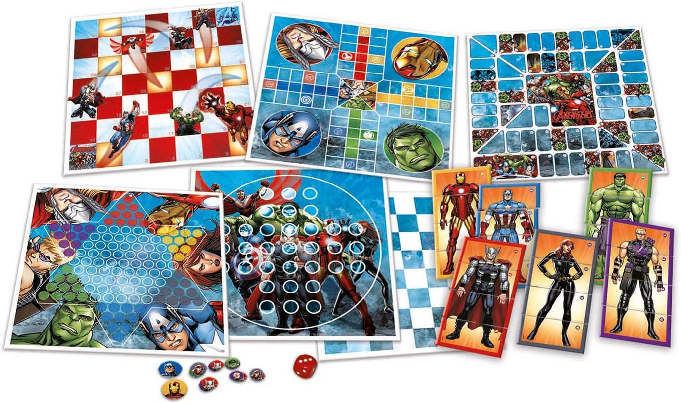 Los Vengadores - Set Especial de 8 Juegos (Educa Borrás 16693): Amazon.es: Juguetes y juegos
