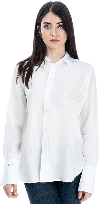 Ralph Lauren Luxury Fashion 211745476001 - Camisa para mujer, color blanco Bianco 6 US: Amazon.es: Ropa y accesorios