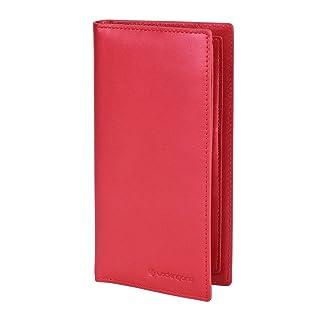Lackingone NFC / RFID Monedero de Cuero auténtico bloqueo con función de antirrobo y anti-escaneo, Carpeta de clip de tarjeta de crédito del dinero con ranura de identificación para mujer