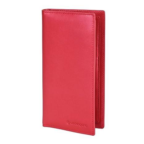 Lackingone NFC / RFID Monedero de Cuero auténtico bloqueo con función de antirrobo y anti-escaneo, Carpeta de clip de tarjeta de crédito del dinero ...