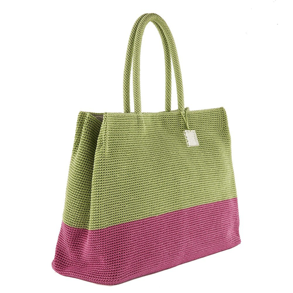 Handtasche, Desire grün, baumwolle - ACACHM03BEGONIA/JUL Anna Cecere